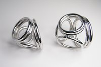 Wholesale Dick Ring Cage - Four in One Cock Ring Metal Cockring for Man glans ring dick ring 304 steel