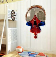Wholesale Spider Man Wall Stickers - Spider Man Cartoon Home Furnishing 3D Three-dimensional Wall Stickers Decorate The Living Room and Bedroom Wall Stickers