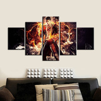 Wholesale Dante Figure - 5pcs set Unframed Devil May Cry Dante Fighter Poster HD Print On Canvas Wall Art Painting For Living Room Decor