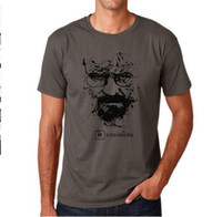 Wholesale Break Shirt - Top Quality Cotton heisenberg funny men t shirt casual short sleeve breaking bad print mens T-shirt Fashion cool T shirt for men