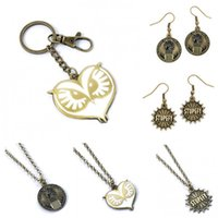 Wholesale Key Ring Links - FB Fantastic Beasts and Where to Find Them STUPEFY MAGICAL CONGRESS Necklaces Keychain Key Ring Women Men Chritsmas Gift 161738