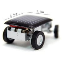 Wholesale Small Mini Toy Cars - Wholesale-Lovely Solar Power Mini Toy Car Racer The World'S Smallest Educational Gadget Children Gift Original Packaging