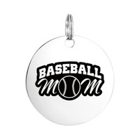 Wholesale Unique Gifts Family - Amazing Engraved Stainless Steel Charm Unique Pendant Necklac DIY Jewelry Gift for Family Best Friend Baseball Mom