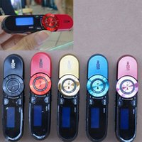 Wholesale Radio Pen Drive - Wholesale- Sport Mp3 Player with Clip + Radio Pen USB Flash Drive Recording MP3 Music Player with Retail Box for Sony 8GB CX88