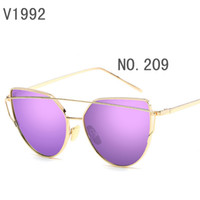Wholesale Colour Matching Pink - sunglasses for women purple korea oval face oval face men women case side shields test police china colour glass wholesale match with box