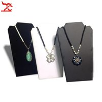 Wholesale Large Jewelry Stands - Retail Jewelry Display Rack Large Folding Necklace Pendant Holder 3 Color Available Cardboard Easel Necklace Stand 20*32cm