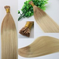 Два тонких Dumb Dye Ombre Hair 100Strands 100g / set I Stick tip Hair Pre-bonded Brazilian Remy Human Hair Extension
