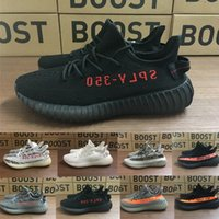 Nouveau Adidas yeezy 350 Boost Beluga 2.0 Grey Bold Orange AH2203 SPLY Boost 350 V2 Zebra Cream White Core Noir Kanye West Chaussures de course