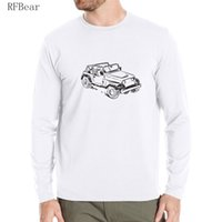 Wholesale Off Road Neck - RFBEAR brand t shirt 2017 New spring Autumn man Long Sleeve T-shirt arder Men's Crewneck fashion Printed Off-road vehicle style