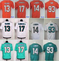 Wholesale Cheap Men S Gold - 2017 Rush Legend Orange Football Jersey Elite 14 Jarvis Landry 13 Dan Marino 17 Ryan Tannehill 93 Ndamukong Suh Home Aqua Green Cheap Jersey