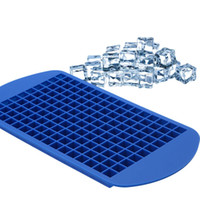 Wholesale square ice cube online - 4 Color Grids DIY Creative Small Ice Cube Mold Square Shape Silicone Ice Tray Fruit Ice Cube Maker Bar Kitchen Accessories