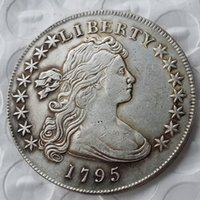 Wholesale More America - United States Of America 1795 Liberty Brass Silver Plated Replica Coins cheap factory price