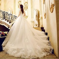 Wholesale China Skirts Floor Length - Luxury Wedding Dresses 2017 New Arrival Beaded Crystal Lace Corset Wedding Gowns Chapel Train China Bridal Gown Custom Made Bride Dress Sexy