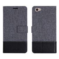 caso x9 al por mayor-MUXMA Flip Case Business Wallet Funda de cuero para VIVO X9 PLUS V5 Plus Funda de silicona Ranuras para tarjetas Fundas para teléfonos