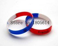 Wholesale French Charm Bracelet - Heat! The new French sports wristbands 100% silicone Gym Fitness bracelet can be delivered free of charge wholesale 50pcs