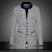 Wholesale Large Men Suits - Wholesale- 2017 Men Casual Suit Blazer Large Size Designer Slim Fit Business Dress Suit Jacket Male Fashion Vintage Formal Blazer Suit 6XL