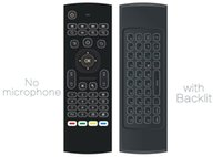 1pcs durch Post MX3 T3 Backlit kein Mikrofon Mini 2.4GHz Wireless Keyboard Air Mouse Remote G-Sensor Gyroskop für STB Android TV BOX PC