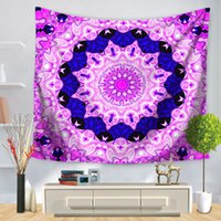 Wholesale Colorful Bedspreads - 150*130cm Hot Sale Indian Mandala Tapestry Hippie Home Decor Wall Hanging Colorful Floral Tapestries Yoga Mat Bedspread Table Cloth