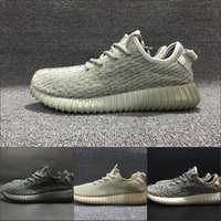Wholesale cheap women winter wear - With Box 2018 New Cheap 350 Sneakers Kanye West Pirate Black Men Women Wear-Resisting Breathable Sports Running Shoes