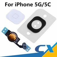 Wholesale Iphone Home Menu - New Original Quality Replacement For iphone 5 5G 5C Home Menu Button Flex Cable Fully Fomplete Assembly Repair Parts Free shipping