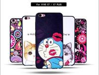 Wholesale Bbk Vivo - For BBK VIVO X7 PLUS V3 MAX Y55 Cartoon TPU Hard PC Case Silk Flower Butterfly Cat Girl Meow Guitar MUSIC Doraemon Rubber Skin Cover Luxury