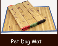 Wholesale New Summer Multiuse Seat Pet Dog Cat Cooling Pad Mat Sleeping Bamboo Bed Carbonized Bamboo Mats Size