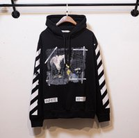 Wholesale Hoodie Hoody Men - Wholesale-2016 New hip hop Pyrex C O Virgil Abloh OFF WHITE Hoodies Religious Jesus Twill 13 print Men Cotton Hooded hoody sweatshirts