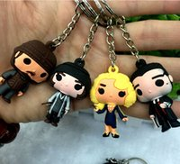 Wholesale Key Ring Findings - Fantastic Beasts keychains Where to Find Them Key chain Women Men Pendant Newt Queenie Key Ring Niffler Harry Potter Gift
