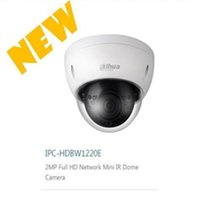 Wholesale Dahua Mini Dome - Free shipping DAHUA 2MP Network Vandalproof IR Mini Dome Camera with Fixed Lens IP67 without Logo IPC-HDBW1220E