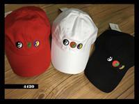 Wholesale Peace Letter - PEACE OUT' Dad Cap black strapback hat Gosha Rubchinskiy yin yang nineties 6 panel baseball 90s Symbol Cap