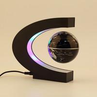 Wholesale Levitation Magic - Wholesale-In stock! Electronic Magnetic Levitation Floating Globe Antigravity magic novel light Birthday Gift US plug Newest