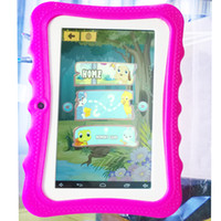 Wholesale tablet pc inch chinese resale online - Cheap inch quot Children s tablet Quad Core Allwinner A33 Android KitKat Capacitive GHz MB GB Dual Camera with Silica case pc