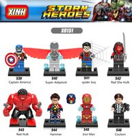 120pcs Mix Lot Super Heroes Minifig Spideman Superman Spider Man Hulk Ironman Capitaine Amérique Bat Figure X0151 Mini Building Blocks Figures