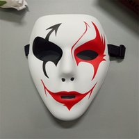 Wholesale Clown Face Paint Wholesale - PVC street dance mask with environmentally friendly materials hand - painted hip - hop mask graffiti masks mask spot Horror horror clown mas