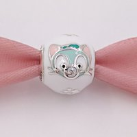 Compra Fascino Europeo Del Gatto-Autentici 925 Sterling Silver Beads Gelatoni Cool Cat Charms Adatto europeo Pandora gioielli stile collana bracciali 792131ENMX