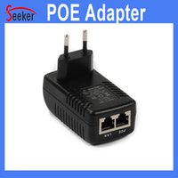 Wholesale Nvr For Ip Camera - Free Shipping 24W 48V 0.5A POE Adapter for IP Camera NVR Wall Plug EU US UK and AU POE Injector