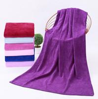 Wholesale Beach Sheets Towels - Microfiber BathTowels 80*180cm Sport Gym Swimming Camping Beach Travel Towel Drying Swimwear Bath Sheet 12 Colors OOA1270