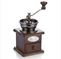 Wholesale Coffee Maker Bean - china guangdong Fxunshi MD-802 household coffee maker machine hand coffee wooden vintage mill manual coffee bean cafe grinder