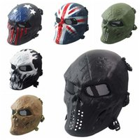Wholesale Military Skeleton Mask - Zombies Skeleton Masks Masquerady Mask For Man Halloween Walking Dead Field Armaments Customer Party Mask Military Solider CS Face Mask