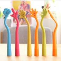 Wholesale Expressions Notes - 5pcs lot Hand Gesture Ball Pen Facial Expression Ball Point Pens Multi-color Rubber Ball Pens Wholesale Free Shipping By ePacket