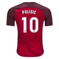 Soccer black teams - 17 Pulisic National Team Red Soccer Jersey World Cup Jersey Customized Soccer Top Thai Quality Cheap Soccer Jerseys Discount