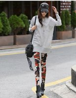 Wholesale Sale Printed Jeggings - Wholesale- Hot Sale Camouflage 2016 Summer Active Pants Leggings Fitness Jeggings Legins Sexy Printed Clothes For Women High Quality