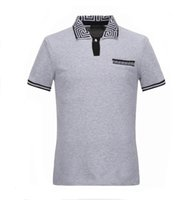 Wholesale Mens Brand Polo Shirt - Mens polo t shirt famous brand t shirts skull mens designer business polo shirt luxury brand stylish tee shirt M-XXXL D27