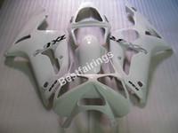 Wholesale Cheap Motorcycle Fairings Kits - Cheap injection mold plastic fairings for Kawasaki Ninja ZX6R 03 04 white motorcycle fairing kit ZX6R 2003 2004 UY31