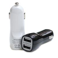 şarj cihazı 5v toptan satış-Araç Şarj Çift USB iPhone için Liman 5V 2.1A / 1A IN-Araç Şarj X 8 7 artı Samsung Galaxy S7 S8 6S