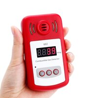 Wholesale Combustible Gas Alarm Detector - Wholesale- 5pcs Lots Portable Mini Combustible Gas Detector Analyzer Gas Leak Tester With Sound And Light Alarm Gas Leak Detector Gsm Alarm