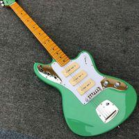Wholesale Electric Guitar Locking Tremolo - Jazzmaster deluxe Jaguar electric guitar, S-S-S P90 pickups, Import Tremolo, Locking tuner, Olive Finish