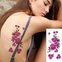 tatouages femmes sexe achat en gros de-Les fleurs de cerisier 3D réalistes ont augmenté de grosses fleurs le sexe