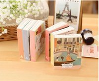 Wholesale Palms Pictures - Wholesale- Cute Cartoon Drawing Pictures Colored Page Palm Notebook Mini Notepad Travel Diary Book Gift Stationery Escolar Papelaria