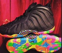 Wholesale Black Basketball Foam Shoes - Fruity Pebbles Womens Basketball shoes Women Penny Hardaway Shoes Air Foam Black White Leather colorful bottom Sneakers athletic shoes